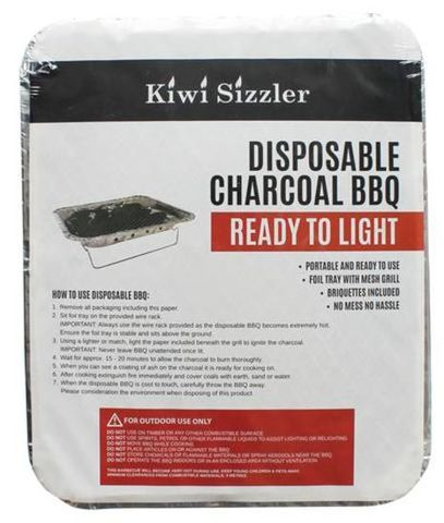Kiwi Sizzler Disposable Charcoal BBQ