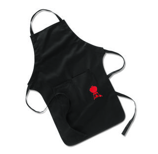 Weber Apron with Red Kettle Motif
