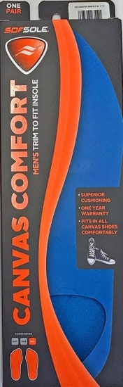 Sof Sole 'Canvas' Comfort Insole -Mens