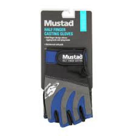 Mustad Half Finger Casting Gloves