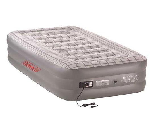 Coleman Queen Double High Quickbed with built in pump.